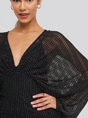 NA-KD Party Dolman Glittery Mini Dress svart