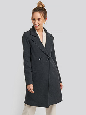 Trendyol Long Double Breasted Coat grå