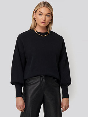 NA-KD Balloon 3/4 Sleeve Sweatshirt svart