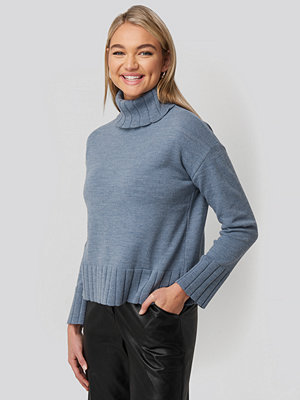 NA-KD Slouchy Turtle Neck Sweater blå