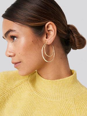 NA-KD Accessories smycke Flat Moon Earrings guld