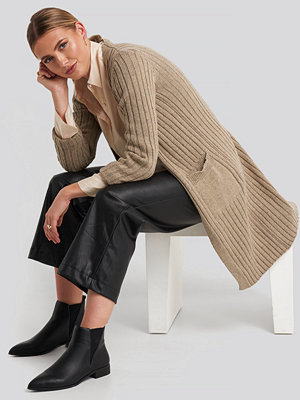 Trendyol Pocketed Corded Cardigan beige
