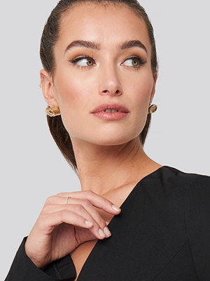 NA-KD Accessories smycke Round Spiral Earrings guld