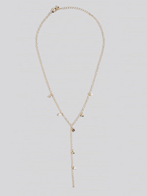 NA-KD Accessories smycke Layered Dropping Necklace guld