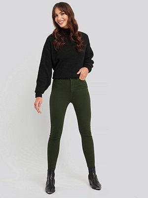 Trendyol High Waist Skinny Jeans grön