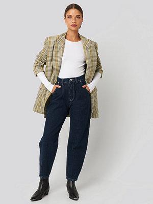 NA-KD Trend Cropped Balloon Leg Jeans blå