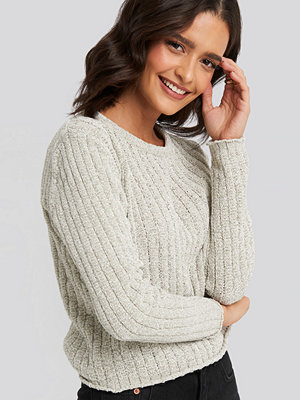 Trendyol Bike Collar Chenille Sweater grå