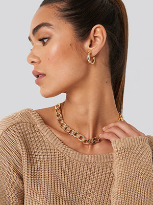 NA-KD Accessories smycke Chunky Chain Necklace guld