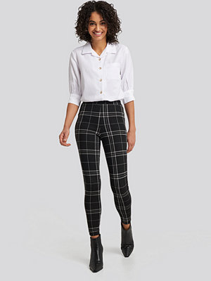 NA-KD Check Leggings svart