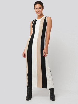 NA-KD Ribbed Sleeveless Maxi Dress multicolor
