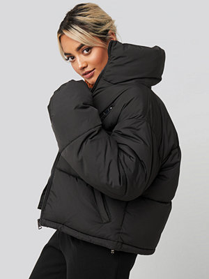 NA-KD Zipper Padded Jacket svart