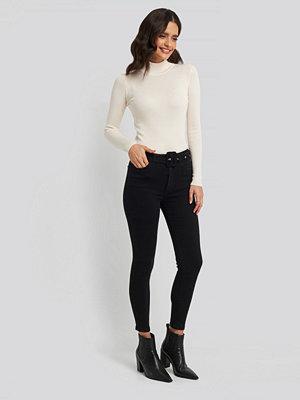 Trendyol Belted High Waist Skinny Jeans svart