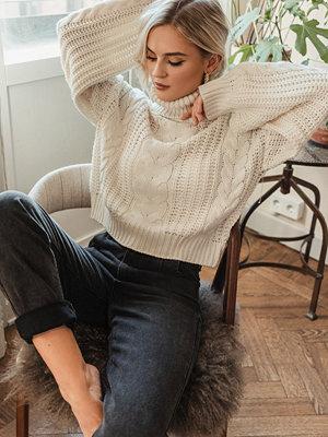 Tröjor - Donnaromina x NA-KD Chunky Cable Knit Sweater vit