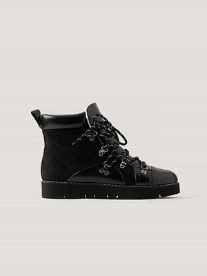 NA-KD Shoes Warm Lined Trekking Boots svart