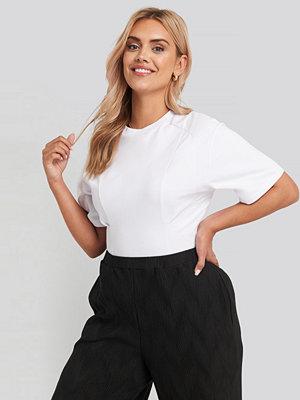 NA-KD Waist Dart Detail T-shirt vit