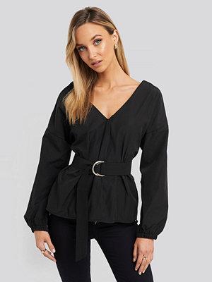 Trendyol Puff Sleeve Detailed Blouse svart