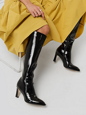 Pumps & klackskor - NA-KD Shoes Glossy Patent Shaft Boots svart