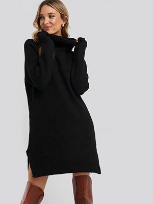 Tröjor - Trendyol Mini Turtleneck Knitted Dress svart