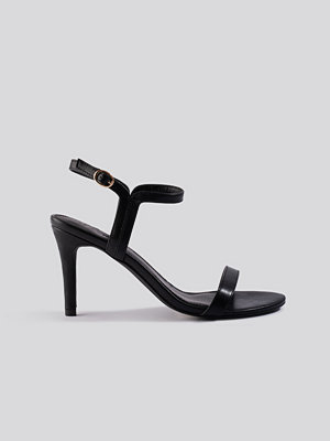 NA-KD Shoes Two Way Ankle Strap Heels svart