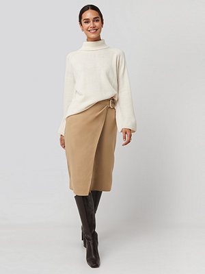 Trendyol Cream Belt Detailed Skirt beige
