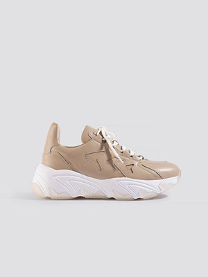 NA-KD Shoes Zig Zag Chunky Trainers beige