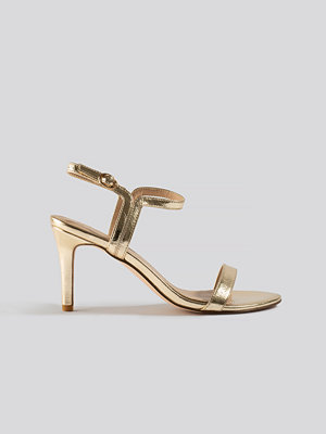 NA-KD Shoes Two Way Ankle Strap Heels guld