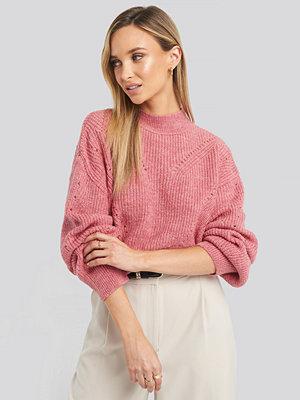 Tröjor - Trendyol Openwork Knitted Sweater rosa