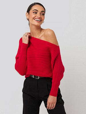 Tröjor - Trendyol Boat Neck Knitted Sweater röd