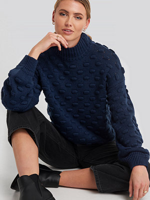 Rut & Circle Liza Jacquard Knit blå