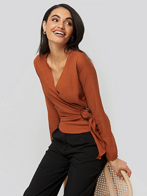 Trendyol Tile Binding Detail Blouse orange