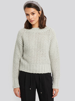 Tröjor - NA-KD Trend Heavy Knitted Wide Rib Sweater grå