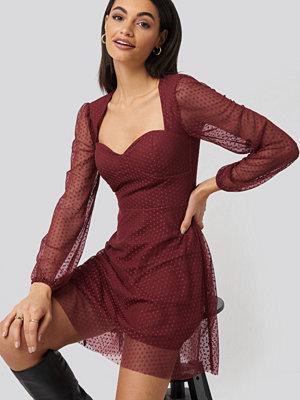 Trendyol Polka Dot Tulle Dress röd