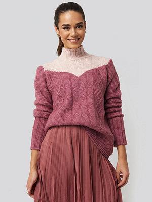 Tröjor - Trendyol Colorblock Knitted Sweater rosa