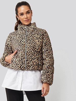 Trendyol mönstrad bomberjacka Zipper Leopard Pattern Velvet Crop Jacket multicolor