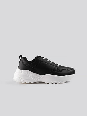 NA-KD Shoes Rubber Detail Trainers svart