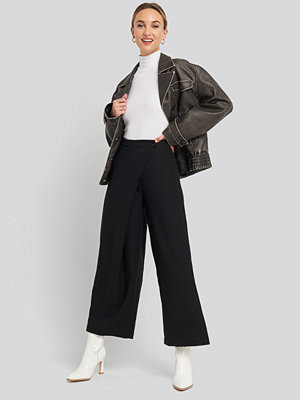 Trendyol svarta byxor Wide Leg Trousers svart