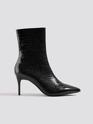 Pumps & klackskor - NA-KD Shoes Reptile Pointy Boots svart
