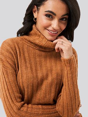 Trendyol Ribbed Turtleneck Knitted Sweater brun