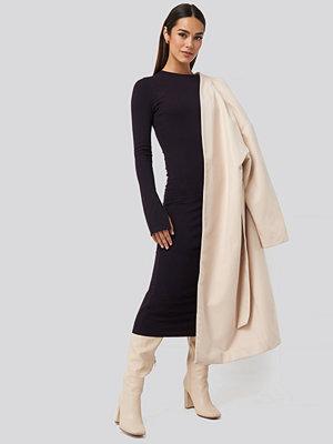 NA-KD Split Sleeve Jersey Midi Dress lila