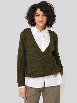 Trendyol Double Breasted Knitted Sweater grön