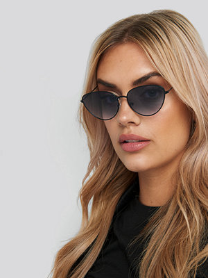 NA-KD Accessories Drop Shape Metal Frame Sunglasses svart