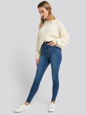 NA-KD Super High Waist Skinny Jeans blå