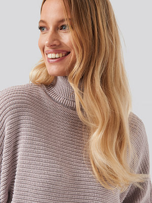 NA-KD Folded Knitted Sweater lila