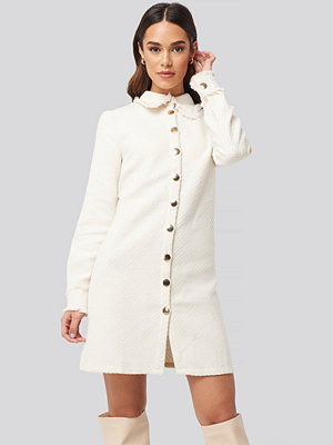 Trendyol Buttoned Jacket Mini Dress vit
