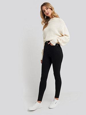 NA-KD Super High Waist Skinny Jeans svart