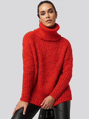 Trendyol Turtleneck Knitted Sweater röd