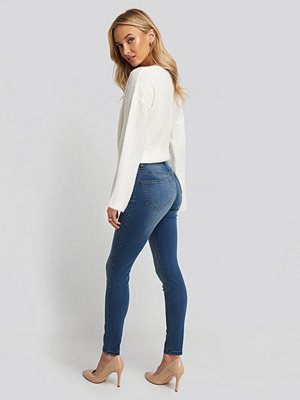 NA-KD Skinny Low Waist Jeans blå
