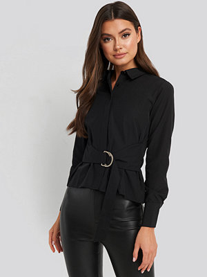 Trendyol Belt Binding Detail Shirt svart