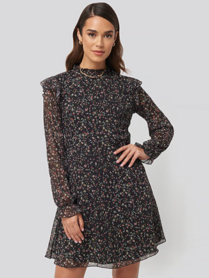 Trendyol Patterned Mini Dress svart