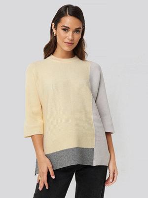 Tröjor - NA-KD Block Colour Oversized Sweater multicolor